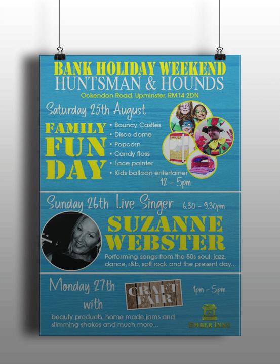 Huntsman & Hounds Leaflet Print Design