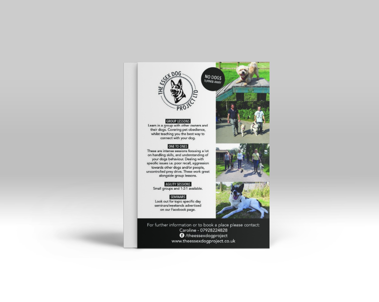 Essex Dog Project Logo, Business card and Leaflet design