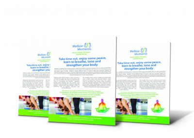 Mellow Moments Leaflet design