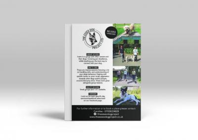 Essex Dog Project Logo, Business card and Leaflet design