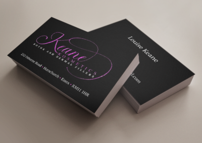 Keane Cosmetics Business card design and Print
