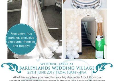 Barleylands Wedding Village Leaflet design